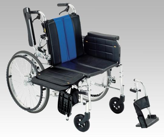【送料無料】横乗り車椅子(ラクーネ2) ネイビーチェック/ブルー【8-2738-01/8-2738-02】