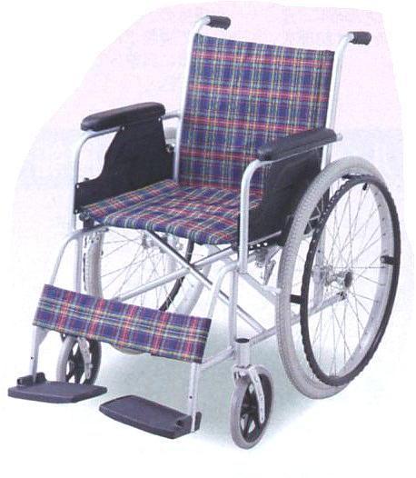【送料無料】自走式車椅子(アルミ製)取扱いが簡単な軽量タイプ