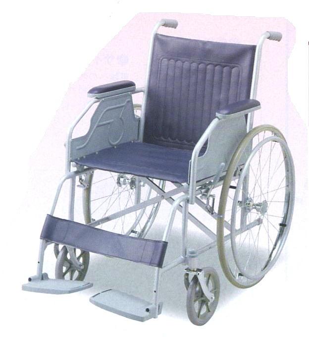 【送料無料】自走式車椅子(スチール製)お求めやすく、耐久性に優れたスタンダードタイプです