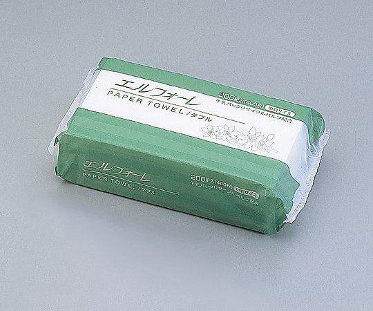 【8-8597-52】ペーパータオル (エルフォーレ・中判) 200組/袋×30袋