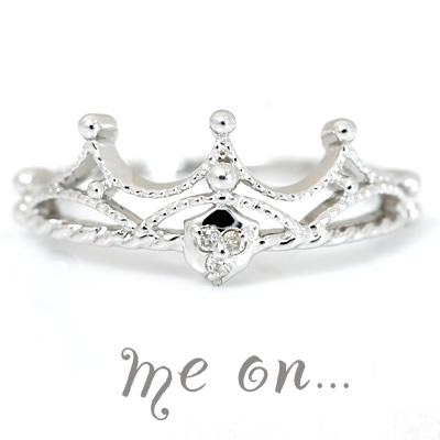 【送料無料】【me on...】女性限定の贅沢。小指をオシャレに輝かせる★ティアラピンキーリング【発送目安:2~3週間】【r】