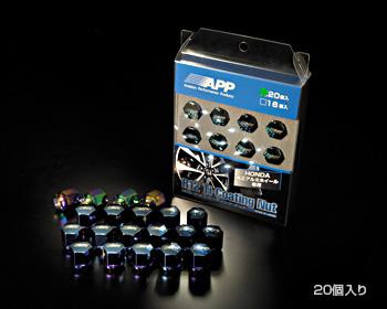 【ラッキーシール対応】【APP/エー・ピー・ピー】R12 Ti-Coating Nut 16個入り _ HN12R-16