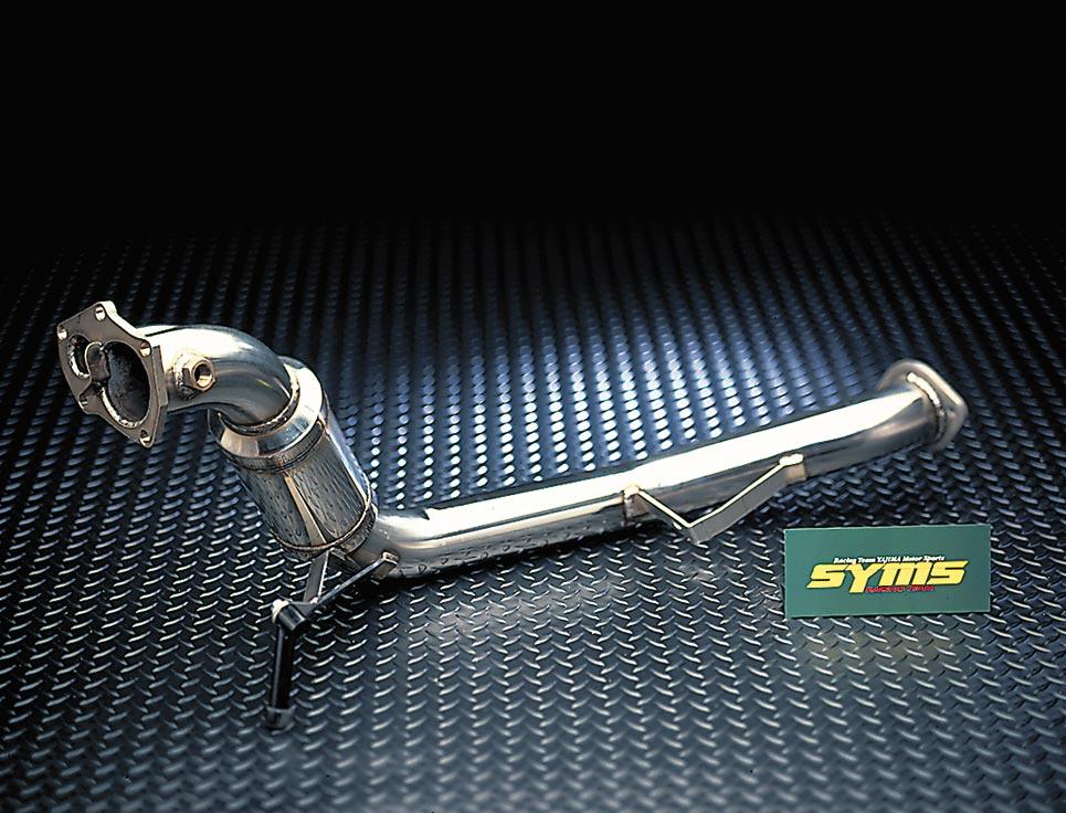 【SYMS/シムス】Mキャタ付フロントパイプ for フォレスター SG5 (AT用) Y0800SG002