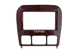 【ラッキーシール対応】【TRIPOD/トライポッド】【TP-220W】Sクラス(W220)前期用 2DIN取付キット(ウォールナット)