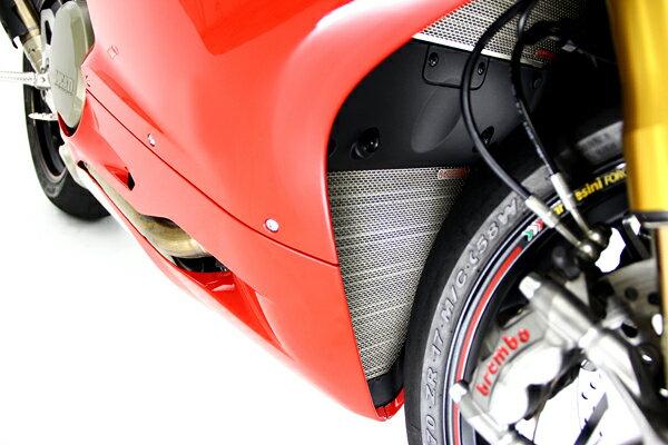 【MOTO CORSE/モトコルセ】チタニウム プロテクションスクリーン ロアーラジエター for ドゥカティ 1299/1199 パニガーレ/899 パニガーレ MCTP0033