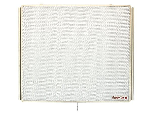 【MOTO CORSE/モトコルセ】チタニウム プロテクションスクリーン ラジエター for カワサキ H2/H2R MCTP0052