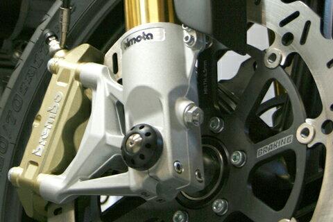 【MOTO CORSE/モトコルセ】アクスルスライダー with チタニウム フロント for bimota DB6/DB5 MCDBT0025