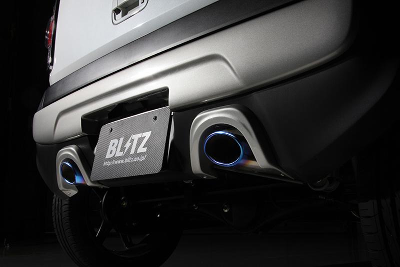 【BLITZ/ブリッツ】エアロスピード RコンセプトAERO SPEED R-concept マフラーガーニッシュ CARBON [ハスラー MR31S R06A Turbo]  60173