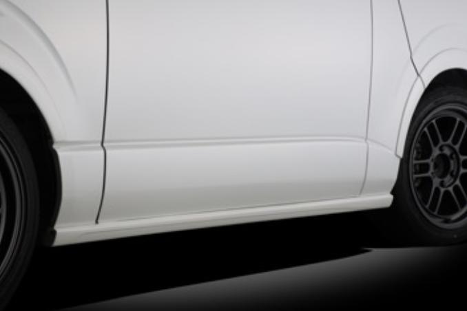 受注生産、予約販売受付中!【BLITZ/ブリッツ】エアロスピード RコンセプトAERO SPEED R-concept サイドスポイラー for WIDE[HIACE/REGIUS ACE] 60373
