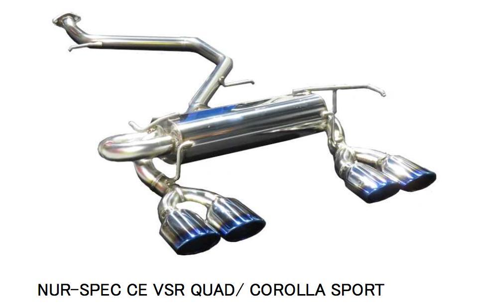 新発売!代引き不可、自動車工場、ショップ様への発送となります(沖縄・離島を除く)【BLITZ/ブリッツ】EX-SYSTEM [エキゾーストシステム/マフラー] NUR-SPEC CUSTOM EDITION VSR QUAD チタンカラー [カローラスポーツ NRE210] 63557V