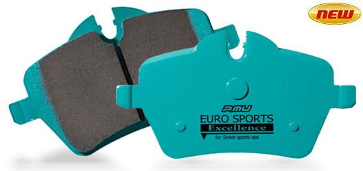 【受注生産品】【AP RACING社製キャリパー用】【ラッキーシール対応】【Project μ/プロジェクト・ミュー】 EURO SPORTS Excellence [ユーロスポーツエクセレンス] ブレーキパッド フロント 一台分 F1076