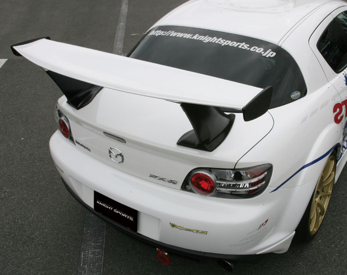 【KNIGHT SPORTS/ナイトスポーツ】 リアウィングスポイラー, GT-STYLE for RX-8 KSE-72401