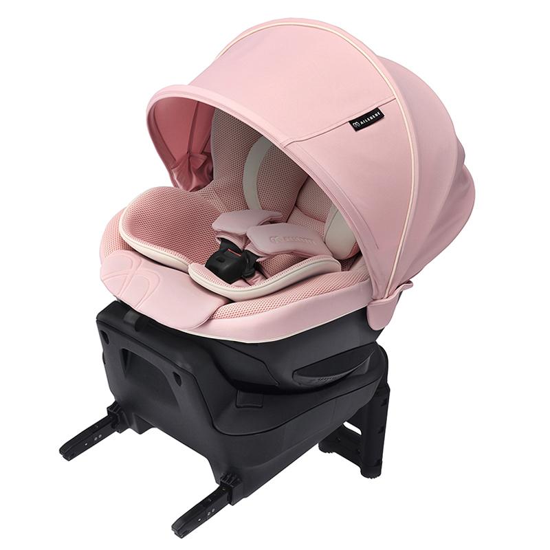 エールベベ クルット5i BF924 グランス ベビーピンクMZ 新生児から4歳頃まで使える日本製 チャイルドシートisofix 回転式