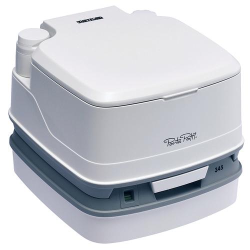 カーメイト PPQ345 ポルタポッティ キューブ ピストンポンプ ホワイト  ポータブルトイレ 水洗式 簡易 洋式トイレ 汚水タンク密閉タイプ carmate