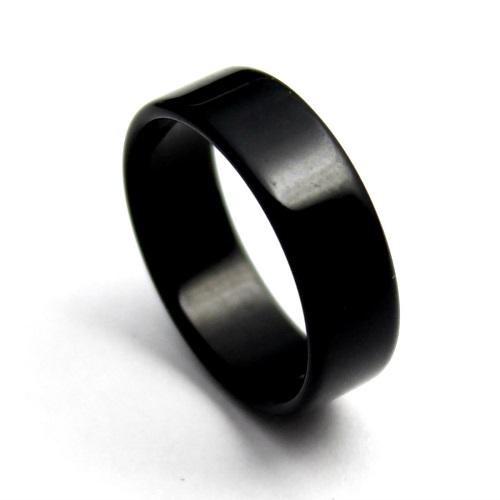 オニキスの平打ちリング オニキス リング 指輪 ブラックオニキス 天然石 レディース メンズ 平打ち