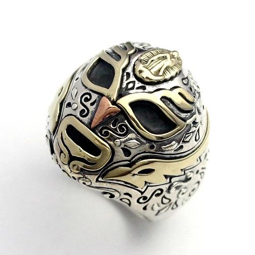 メキシコ ルチャリブレ ルチャ プロレス マスク マリア リング 指輪 シルバー925 アクセサリー メンズ