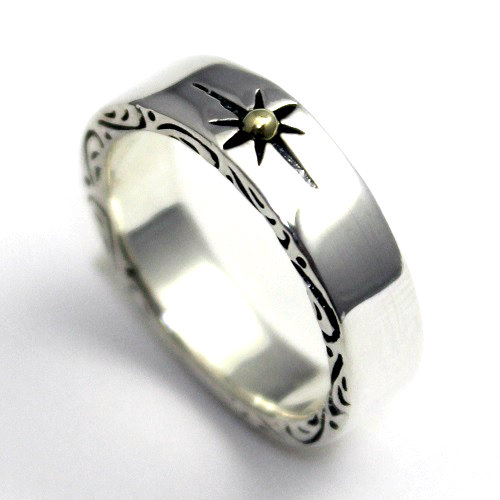 Native American Indian sun sun ring ring ring silver 925