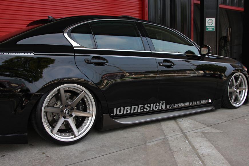 サイドステップ JOBDESIGN ジョブデザイン 10thアニバーサリー レクサス GS450h GRL10 前期 車 パーツ エアロ カスタム JOBDESIGN ジョブデザイン 10thアニバーサリー レクサス GS450h GRL10 前期 サイドステップ