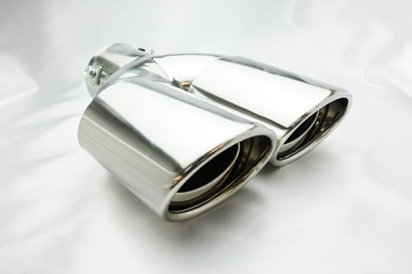 リアビューに迫力を ドレスアップ トヨタ ラクティス 爆買いセール 120 125 デュアル オーバル カッター マフラー 系 現品