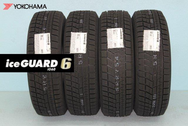 ◎ヨコハマ アイスガード6 iG60 スタッドレスタイヤ 165/50R16756Q 4本セット