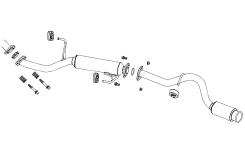 ☆フジツボ オーソライズKマフラーエブリィバン ターボ 2WD/4WD EBD-DA64V H17.08~H17.12