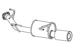 ☆フジツボ オーソライズSマフラージューク 1.6 ターボ 2WD CBA-F15 H22.11~H26.07