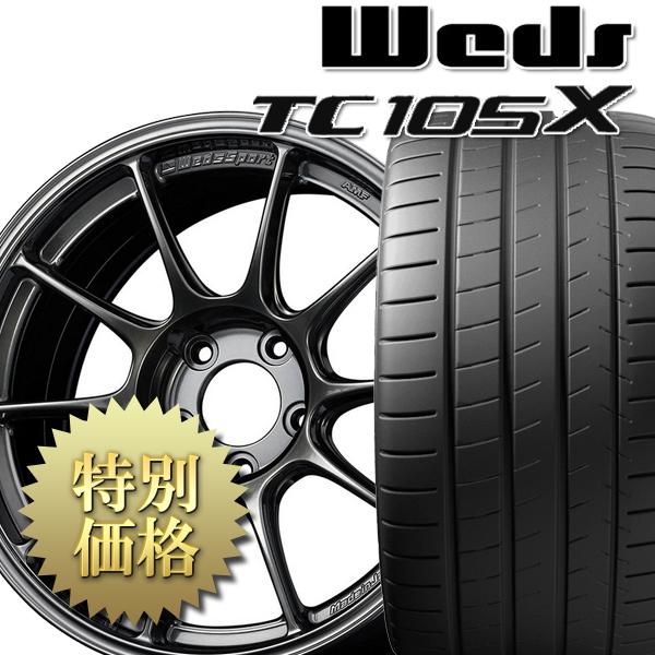 【最安値挑戦!】 [送料無料][究極のタイヤ組み付け工法] タイヤホイール4本セット TC105X + PILOT SUPER SPORT 1台分セット サイズ: 225/40R18, 便利な道具屋さん 37818b40