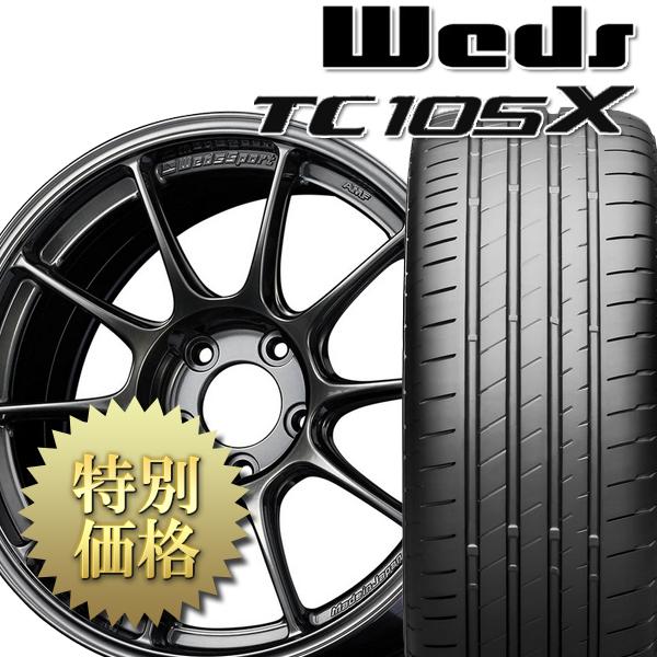 [送料無料][究極のタイヤ組み付け工法] タイヤホイール4本セット TC105X + POTENZA S007A 1台分セット サイズ: 225/40R18