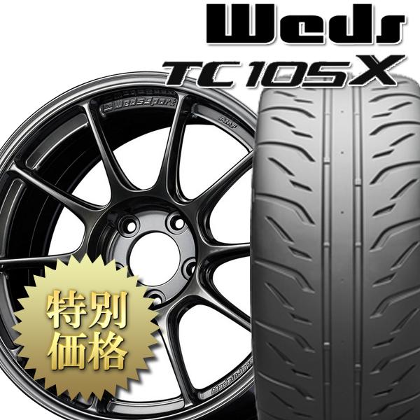 [送料無料][究極のタイヤ組み付け工法] タイヤホイール4本セット TC105X + POTENZA RE-71R 1台分セット サイズ: 225/40R18