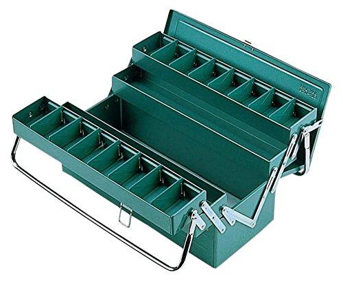 リングスター 3段式ボックス パイプハンドル スチール製 グリーン RSD-413 L410×W200×H230mm 4963241000214 skc-101265 送料無料
