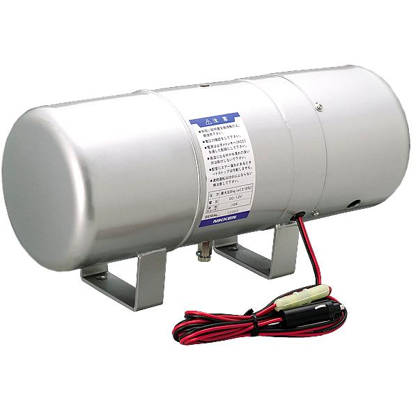 日建 エアホーン専用 コンプレッサー内蔵エアータンク エアーピット2 12V MAX-AP2-12