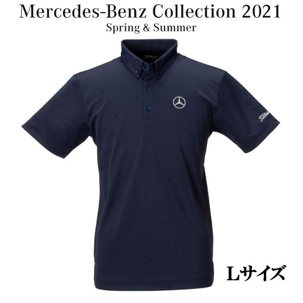 メルセデスベンツコレクション Mercedes-Benz×Titleist ティージャガードポロ ネイビー Lサイズ B91905324