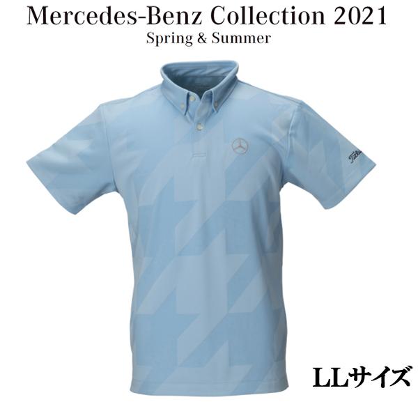 メルセデスベンツコレクション Mercedes-Benz×Titleist 千鳥格子ジャガード ポロ サックス LLサイズ