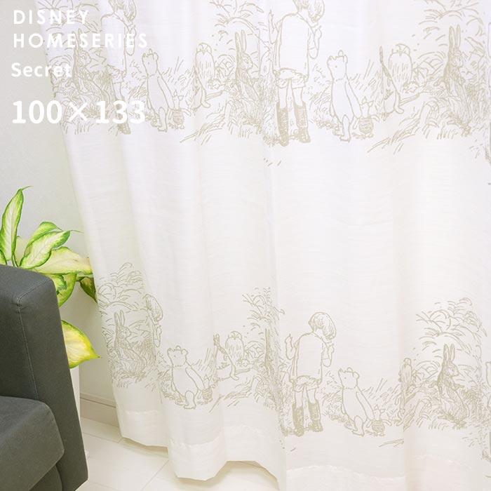 既製 レースカーテン POOH Secret プー シークレット 幅 100×丈 133 cm 1枚入り スミノエ 送料無料