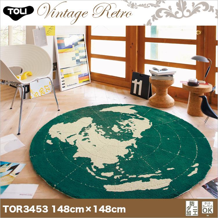 【東リ】ラグ TOR3619 148cm×148cm