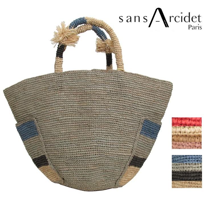 Sans Arcidet サンアルシデ Anuanua Bag Medium かご カゴバッグ トートバッグ レディース ラフィア バッグ 春夏