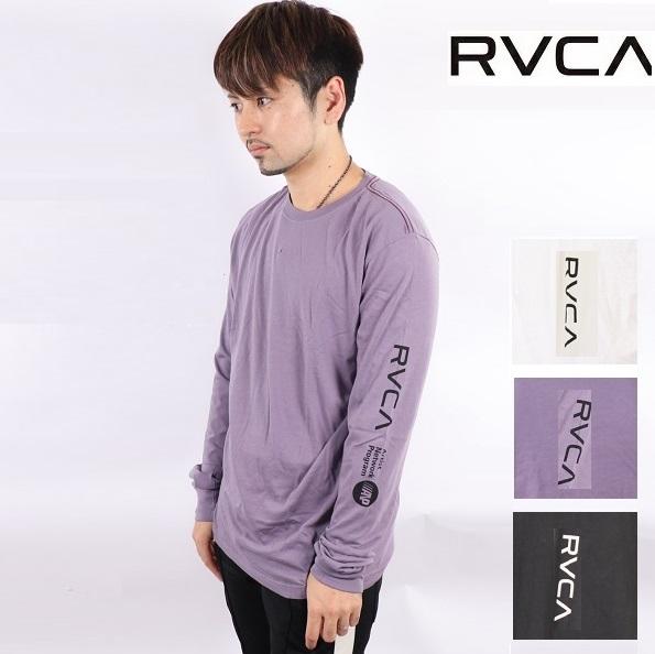 RVCA ルーカ プリント ロンT ロングスリーブ Tシャツ RVCA L/S 長袖 ビッグロゴ ティーシャツ サーフ おしゃれ かわいい 西海岸 カリフォルニア カップルコーデ リンクコーデ インスタ ペアルック