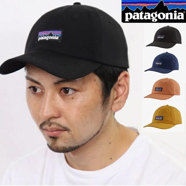 PATAGONIA パタゴニア Tシャツ USAモデル キャップ 帽子 P-6 LABEL コットン Black アジャスター 登山 最新号掲載アイテム CAP TRAD 発売モデル ブラック