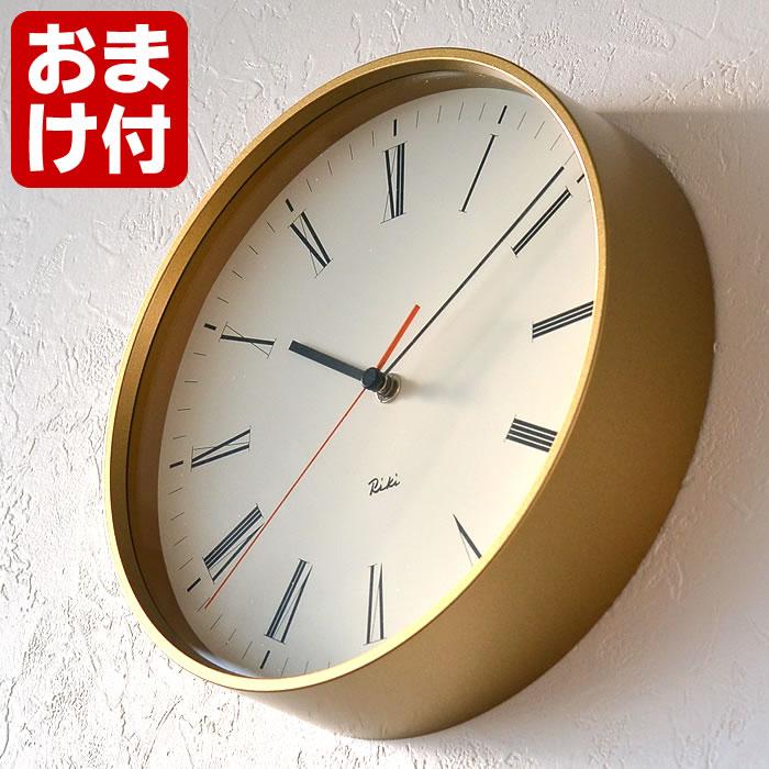 レムノス リキ ローマンクロック 掛け時計 WR17-12 Lemnos RIKI ROMAN CLOCK シンプル 壁掛け時計 おしゃれ モダン オシャレ 日本製 スイープセコンド 静か 渡辺力 デザイン プレゼント ギフト