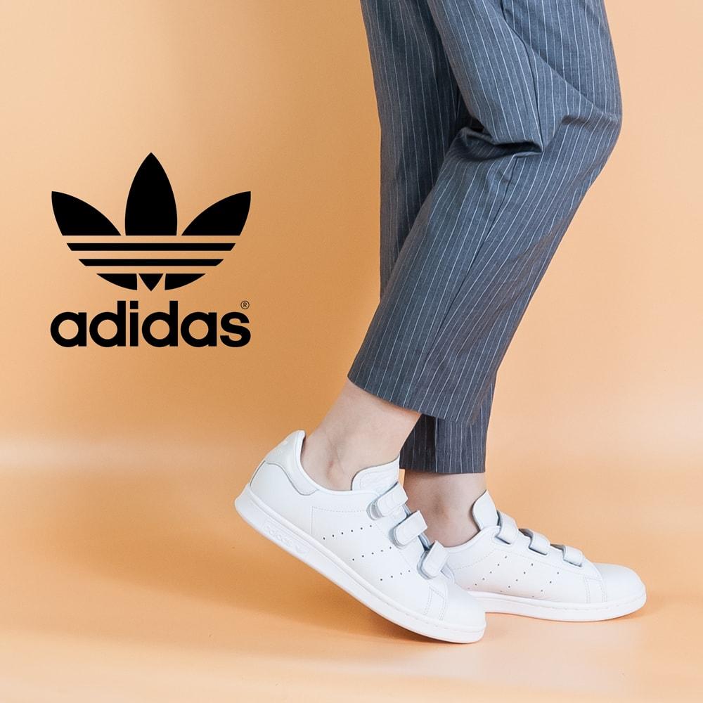 adidas originals [Adidas originals] Stan Smith STAN SMITH Velcro CQ2632 white
