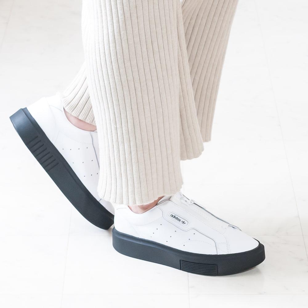 Adidas originals [adidas originals] SLEEK SUPER Z W leak supermarket Z W 9A EF1899 zip platform thickness bottom sneakers