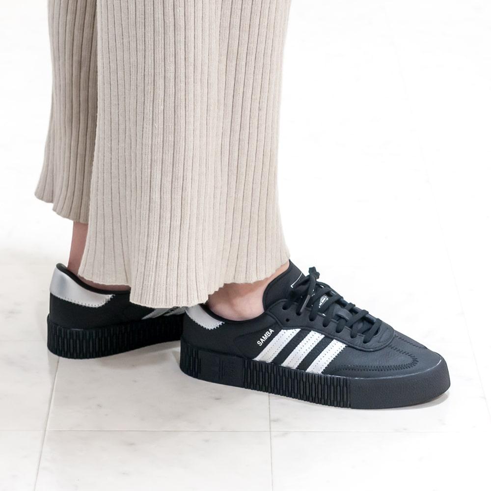 【期間限定10F】adidas originals [アディダス オリジナルス] SAMBAROSE W サンバローズ9A EE4682 ブラック 厚底
