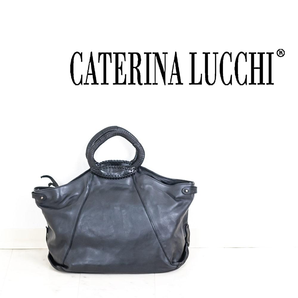 ◇CATERINA LUCCHI [カテリーナルッキ]サークルハンドル2WAYハンドバッグ8A L001360ND C0001 ブラック