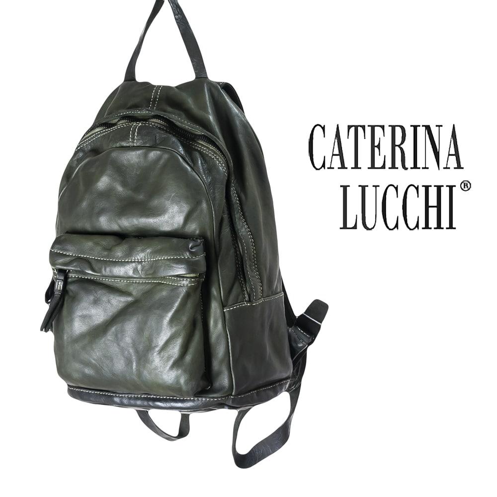 ◇CATERINA LUCCHI [カテリーナルッキ]ウォッシュドレザーミディアムラウンドリュック8A L001460ND C2502