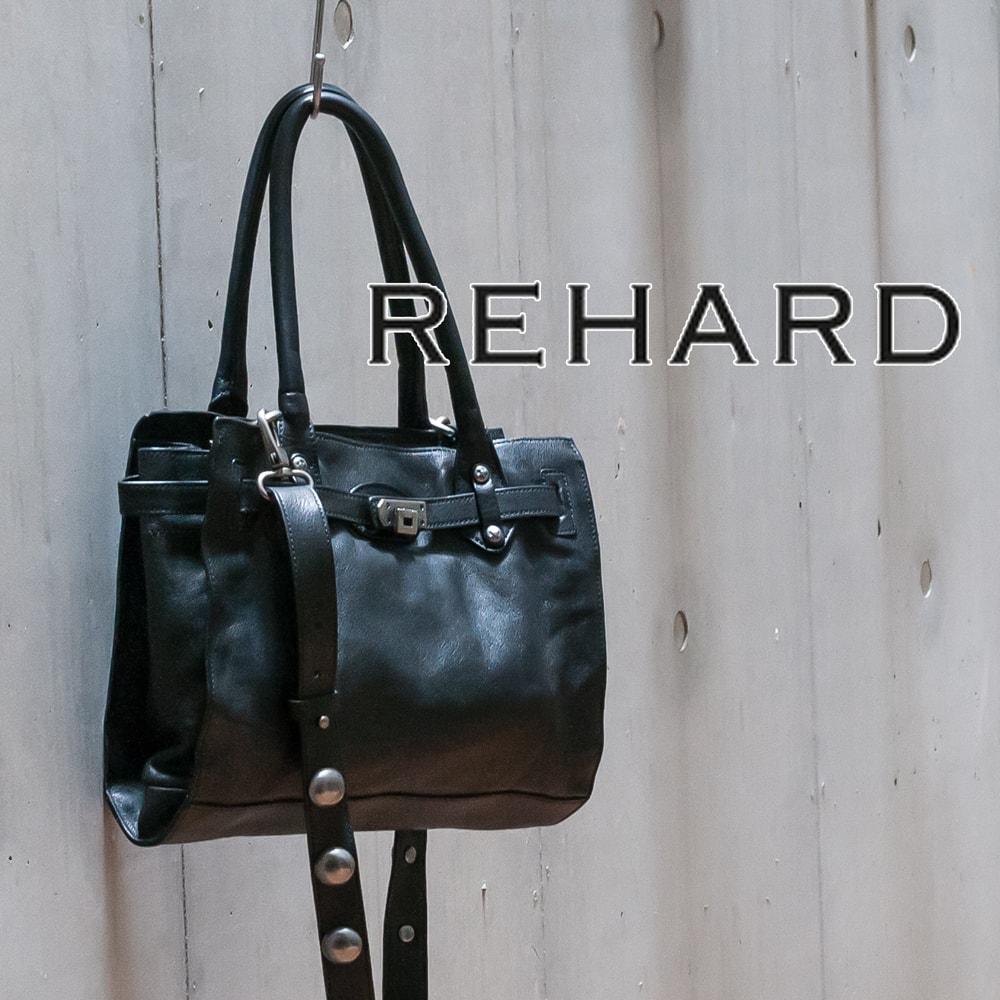 ◇REHARD[リハード]サークルスタッズ2WAYハンドバッグ8A 4005