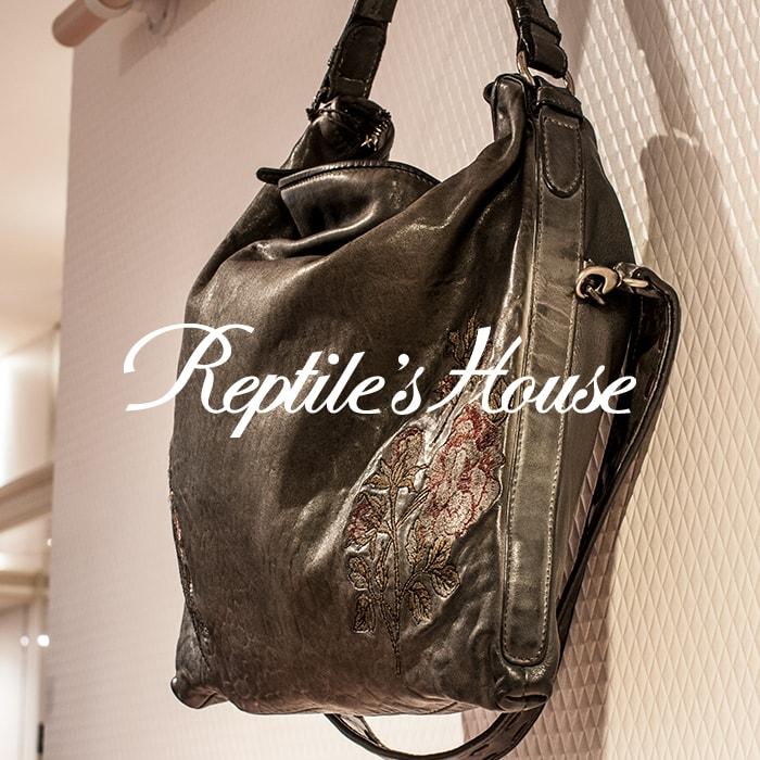 【期間限定30%0FF】REPTILE'S HOUSE [レプタイルズハウス]オータムフラワー刺繍ワンショルダーバッグ 7A BO.340V75027