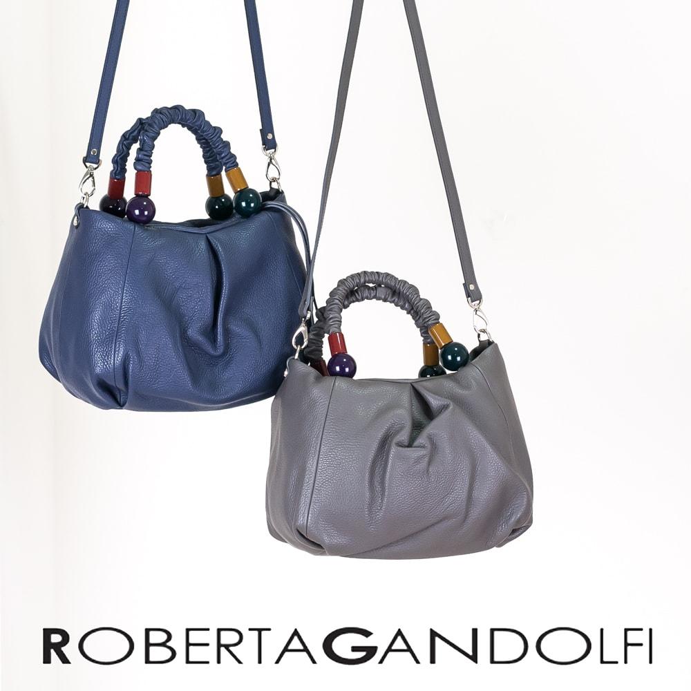 ◇ROBERTA GANDOLFI[ロベルタ ガンドルフィー]デザインハンドル2WAYショルダーバッグ8A RG7130