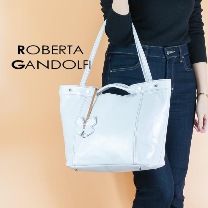 ◇2018 S/S 新作◇ROBERTA GANDOLFI[ロベルタ ガンドルフィー]エナメルレザー2wayトートバッグ8S 6041