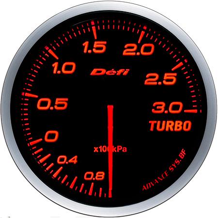 Defi-Link Meter ADVANCE BF (アドバンス ビーエフ)60φターボ計 Max300kPaモデル アンバーレッド 別途アドバンスユニット必要