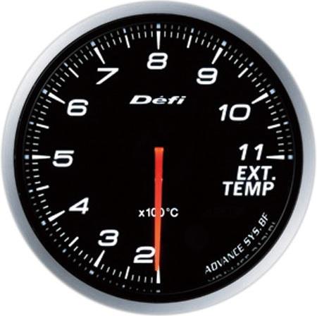 Defi-Link Meter ADVANCE BF (アドバンス ビーエフ)60φ排気温度計  ホワイト 別途アドバンスユニット必要